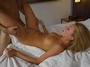 Hot Claire Dames Licks Her Tits And Gets Ass Fucked
